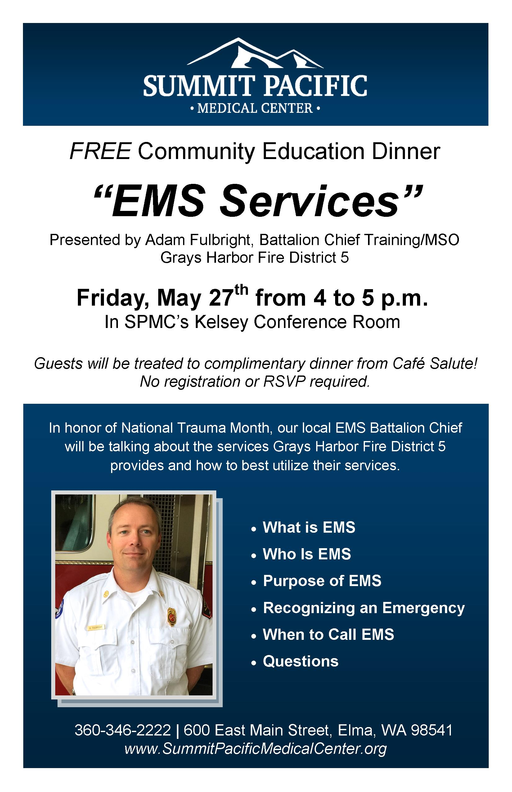 May Ems Services Single Summit Pacific Medical Center