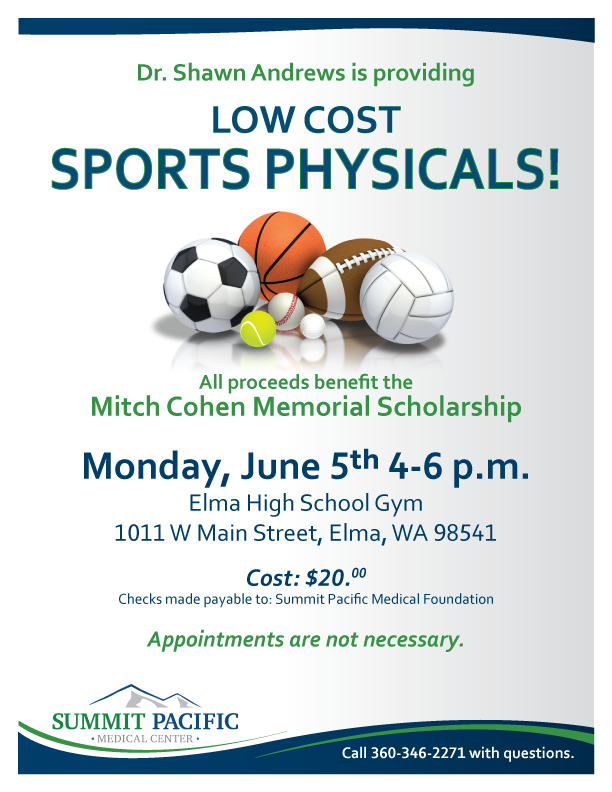 Low Cost Sports Physicals @ Elma High School Gym  | Elma | Washington | United States