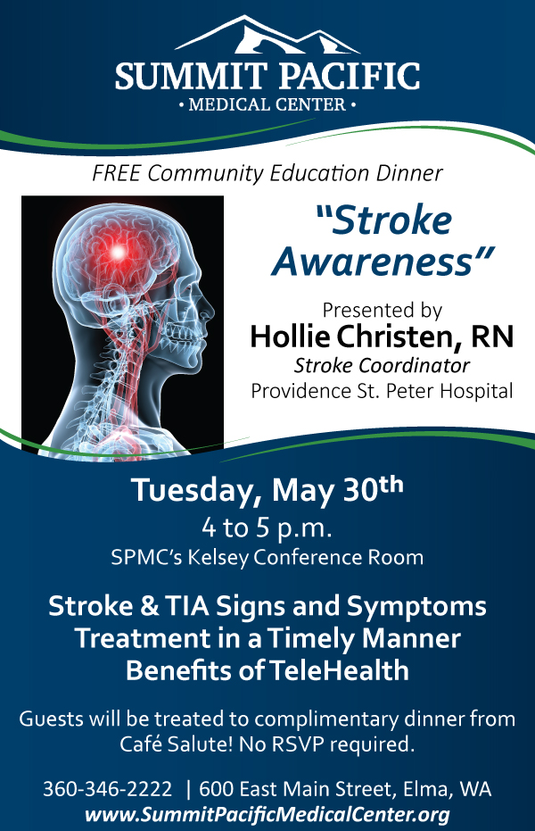 Stroke Awareness, Free Community Education Dinner @ Elma | Washington | United States