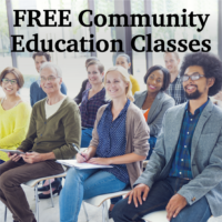 Free Community Education Classes and Dinners