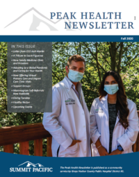 Peak Health Fall Newsletter 2020