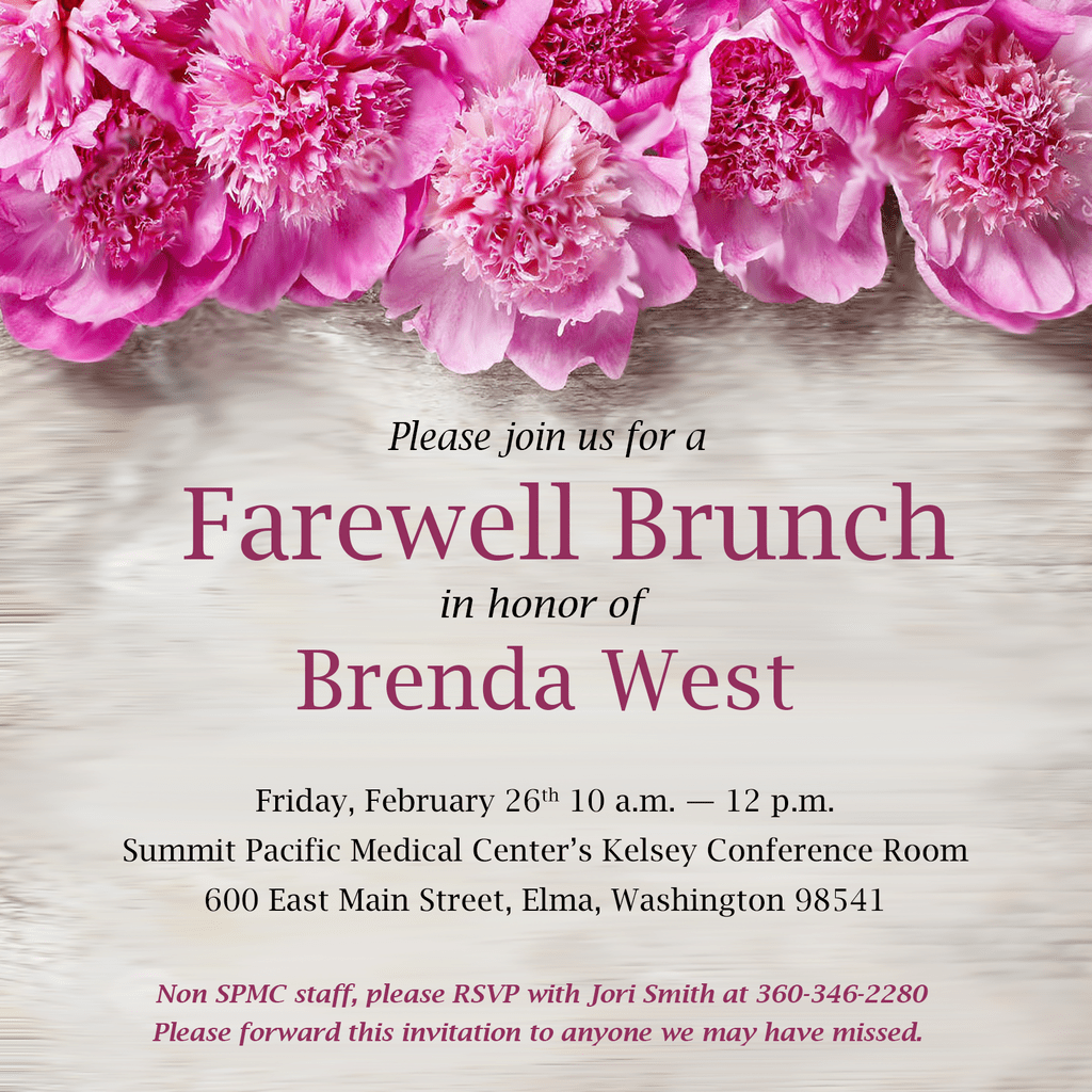 Brenda West Invitation