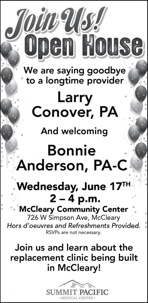 Open House McCleary Ad